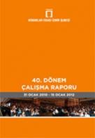 Mimarlar Odası İzmir Şubesi 40. Dönem Çalışma Raporu