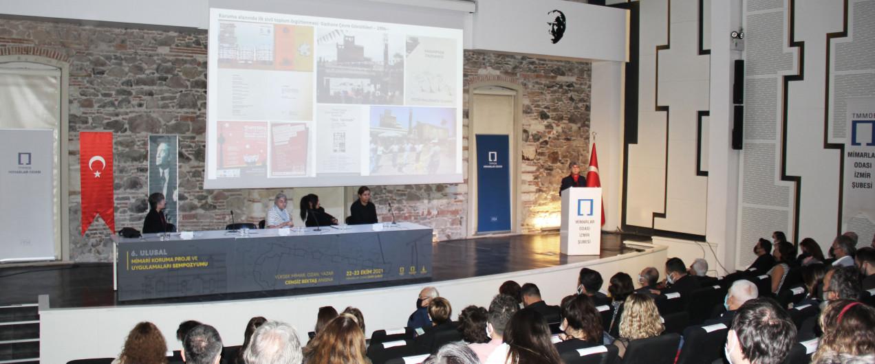 6. Ulusal Mimari Koruma Proje ve Uygulamaları Sempozyumu İzmir Mimarlık Merkezi'nde Düzenlendi