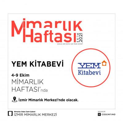 YEM Kitabevi İzmir Mimarlık Merkezi'nde!