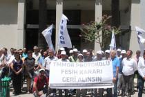 Asgari Ücret Protokolünün İptali Protesto Edildi