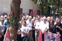 DİSK, KESK, TTB ve TMMOB Suruç'ta: 'Barışı örgütlüyoruz'