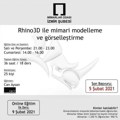 RHINO3D İLE MİMARİ MODELLEME VE GÖRSELLEŞTİRME